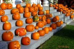 Pumpkins Wayne County Courthouse steps